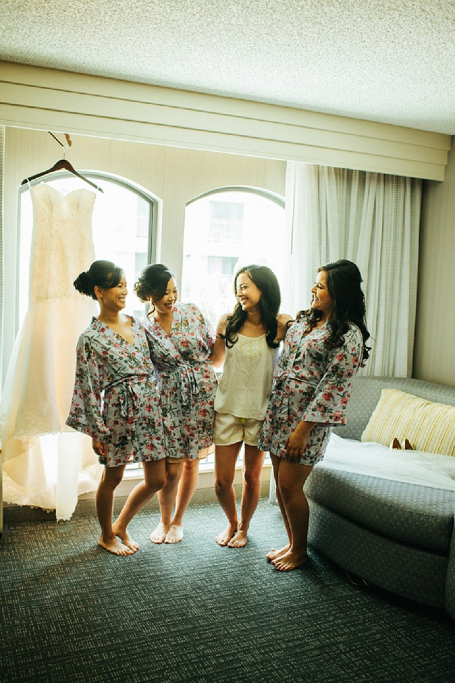 Loving this fun getting ready shot from the Bride and her Bridesmaids!