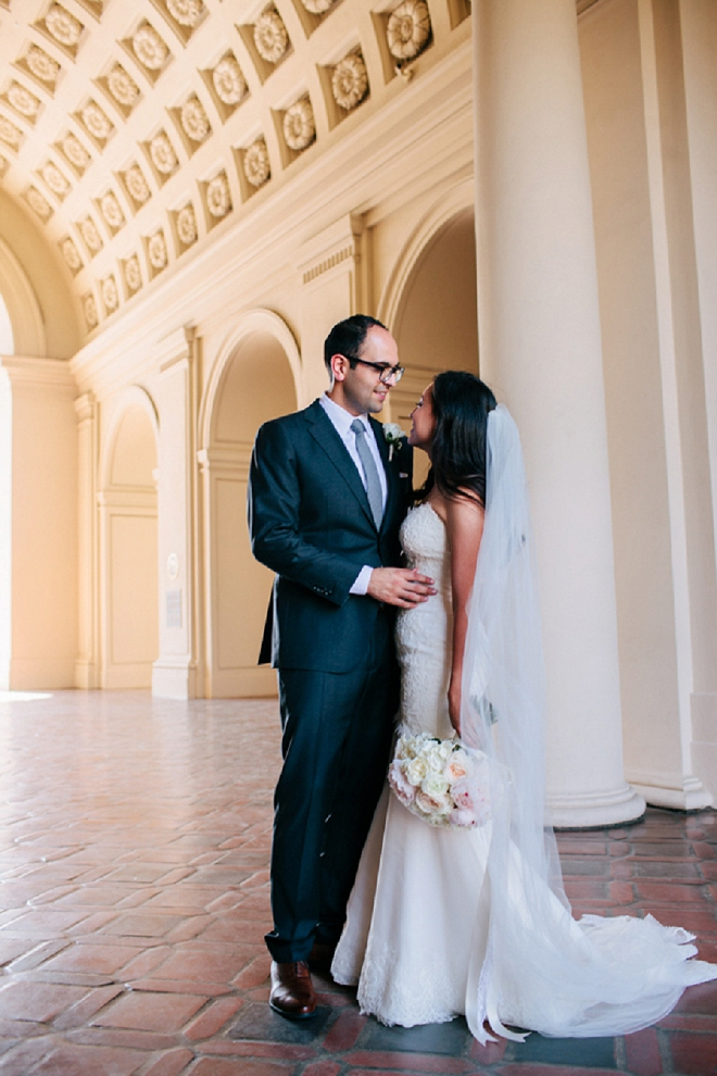 We're swooning over this classic couple and their gorgeous wedding!