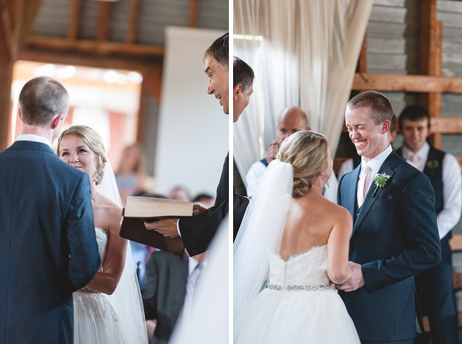 We're loving this sweet DIY wedding ceremony!