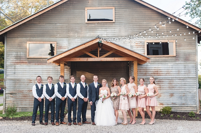 We're loving this fun bridal party at this gorgeous DIY wedding!