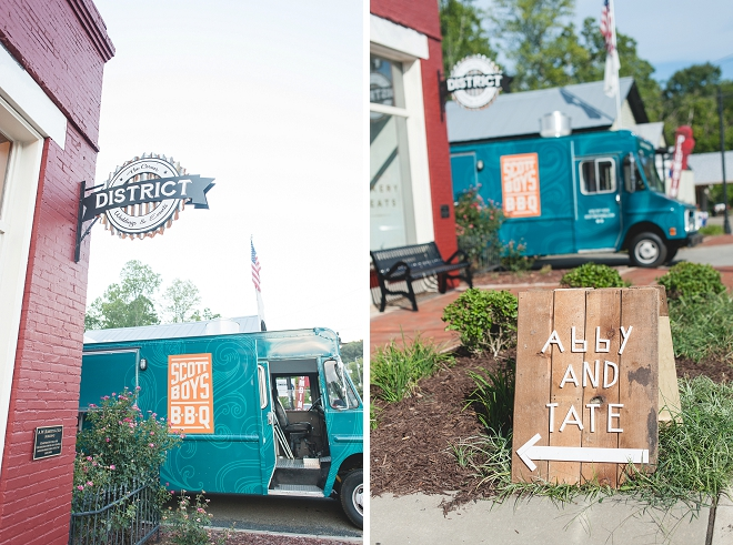 Loving this amazing wedding reception location and signage for this gorgeous DIY wedding!