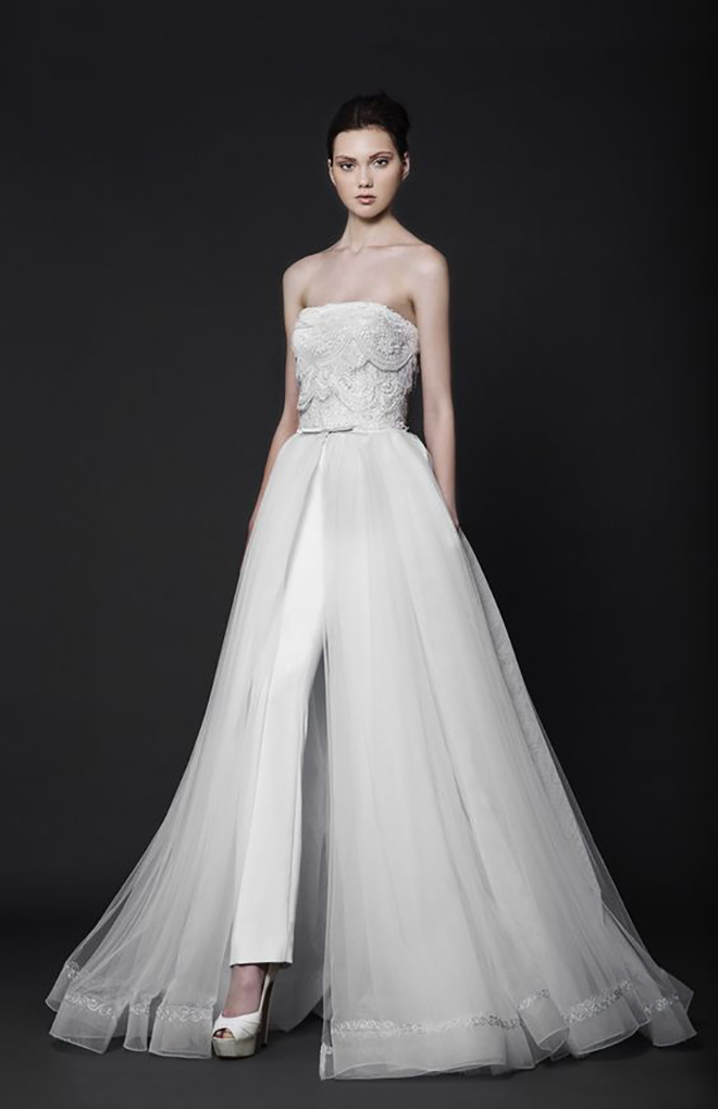 Amazing Tony Ward Jumpsuit with Over-skirt!