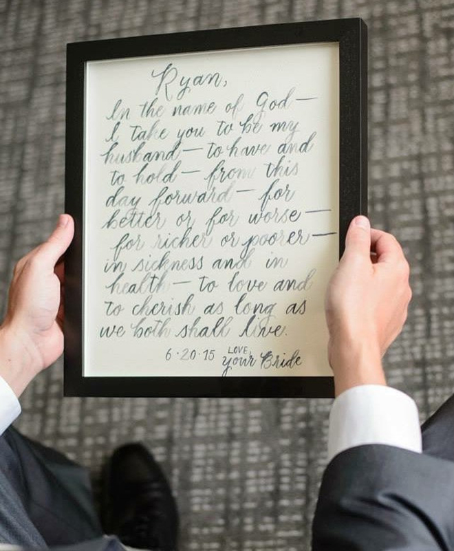 Calligraphy wedding vows by KMN Calligraphy on Etsy!