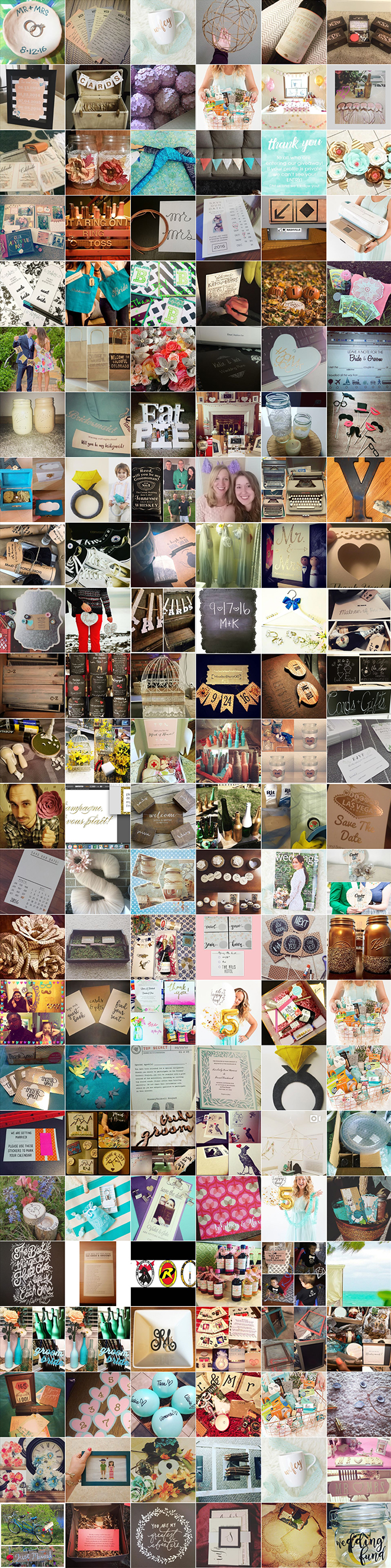 All the amazing DIY bride entries for the #somethingturquoise5 giveaway!