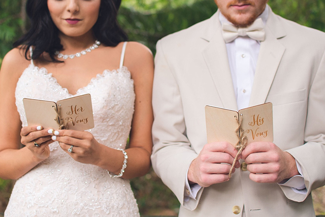 Wedding Vow Notebooks by Down in the Boondocks on Etsy!