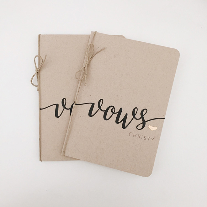 Wedding Vow Notebooks by PaperPunched on Etsy!