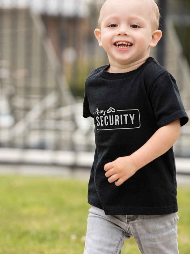 Use our free Cricut cut files to make this darling Ring Security shirt!