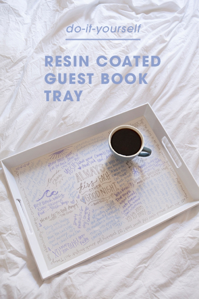Diy Cover Guest Book : Make your own resin coated guest book serving tray