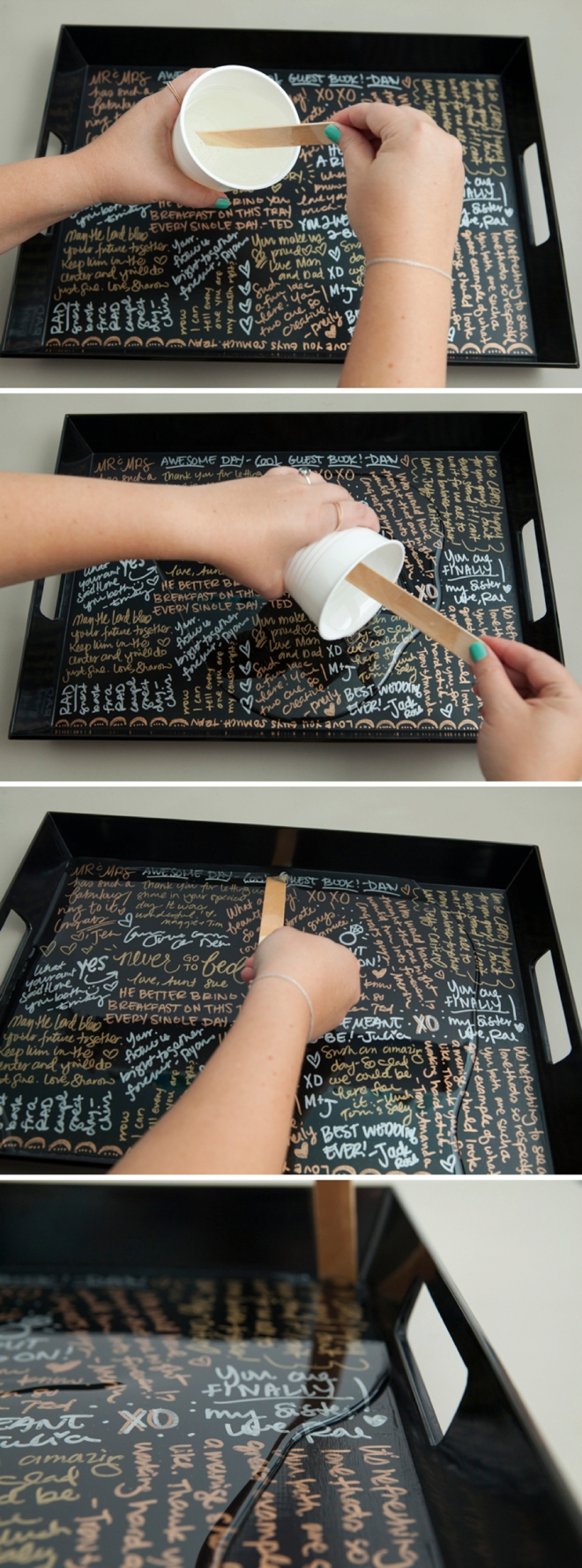 Diy Guest Book Cover ~ Make your own resin coated guest book serving tray