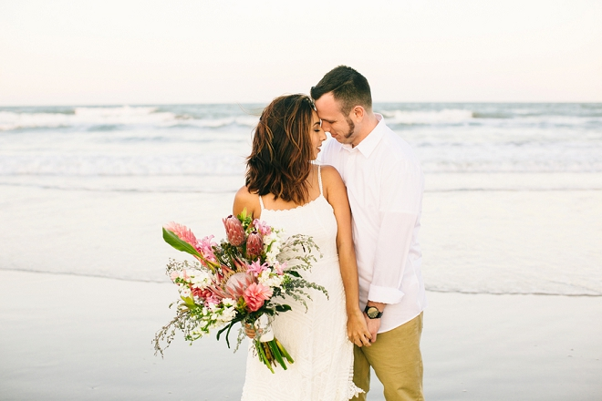 We're swooning over this gorgeous boho beach anniversary!