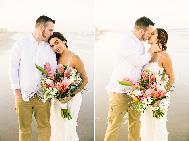 How gorgeous is this Mr. and Mrs. at their beachy boho anniversary?! Swoon!