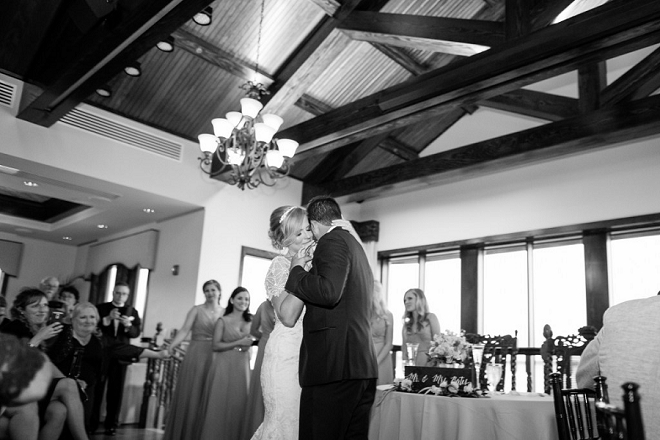 Sweet first dance moment as Mr. and Mrs!