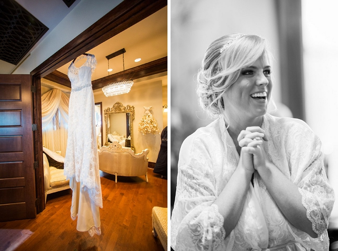 We LOVE this photo of the Bride getting ready for her big day!