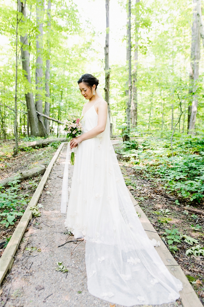 Loving this gorgeous Bride and her custom wedding dress!