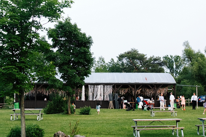 We're in LOVE with this couples casual and rustic outdoor receiption!