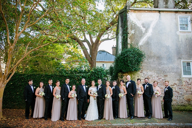 We love the colors of this gorgeous classic Charleston wedding!