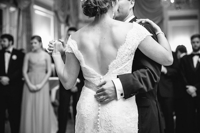 We're loving this super sweet first dance as Mr. and Mrs!