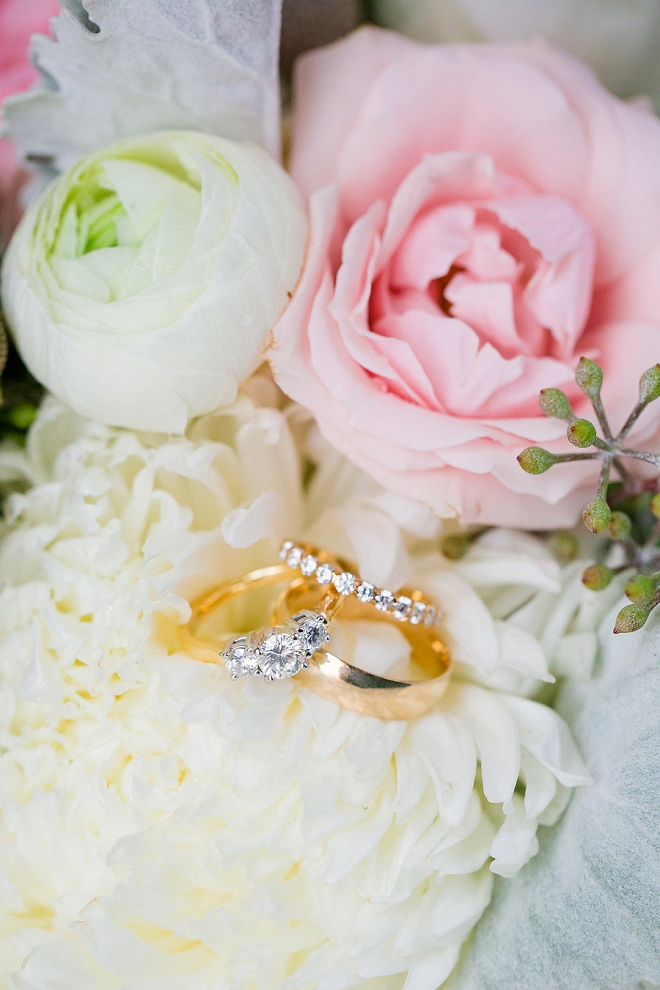We're swooning over this ring shot in the Bride's gorgeous bouquet!