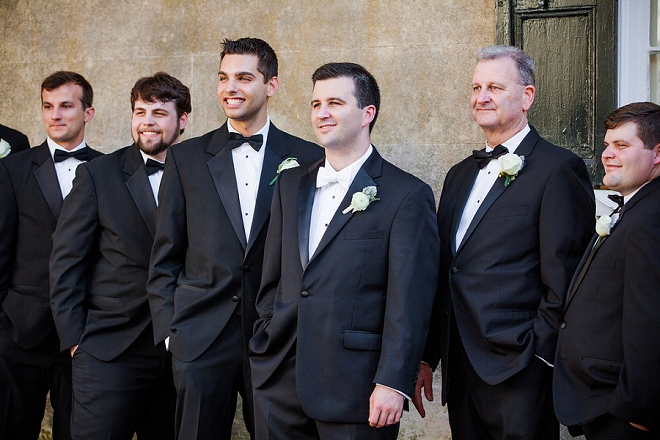 Loving the shot of the handsome Groom and his Groomsmen on the big day!