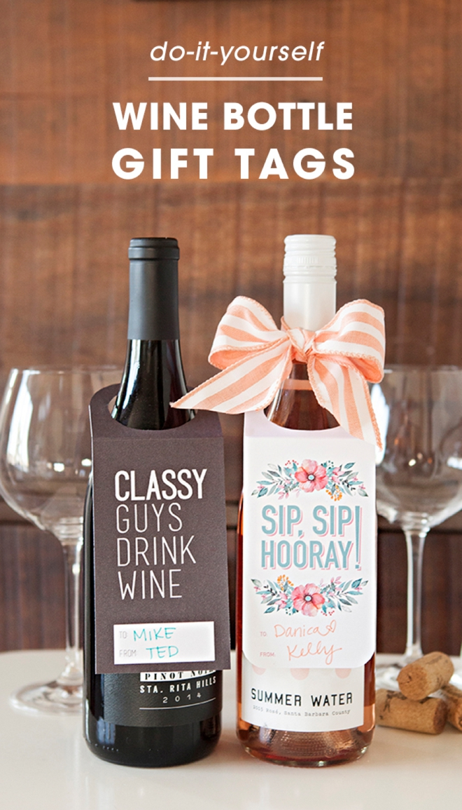 picture regarding Printable Wine Glass Tags titled Watch Out Such Free of charge, Printable Wine Bottle Present Tags!