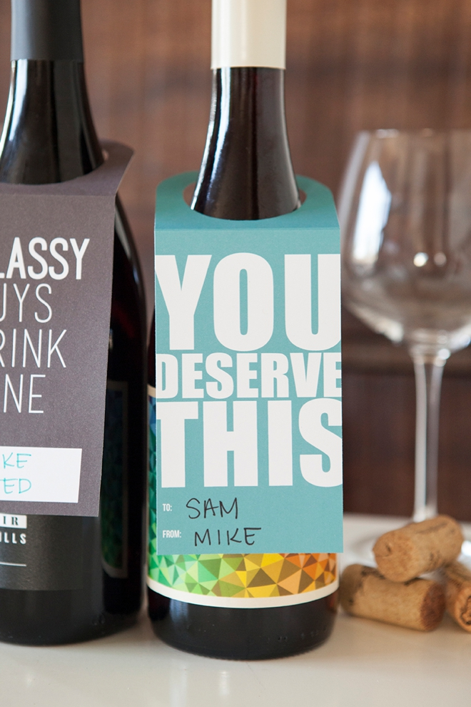 photo relating to Printable Wine Glass Tags named Verify Out These kinds of Cost-free, Printable Wine Bottle Reward Tags!