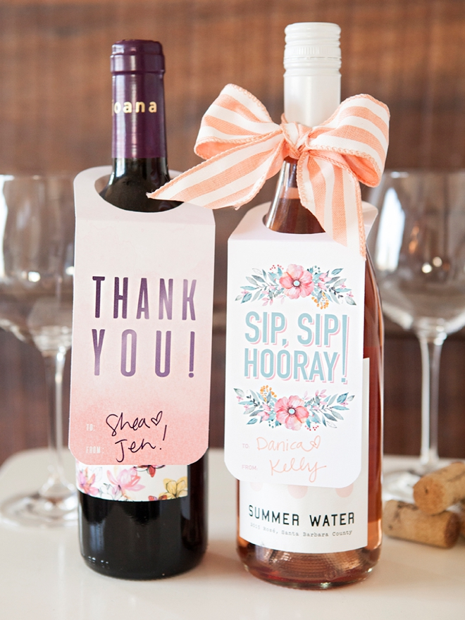 adorable free printable wine gift tags just print and cut