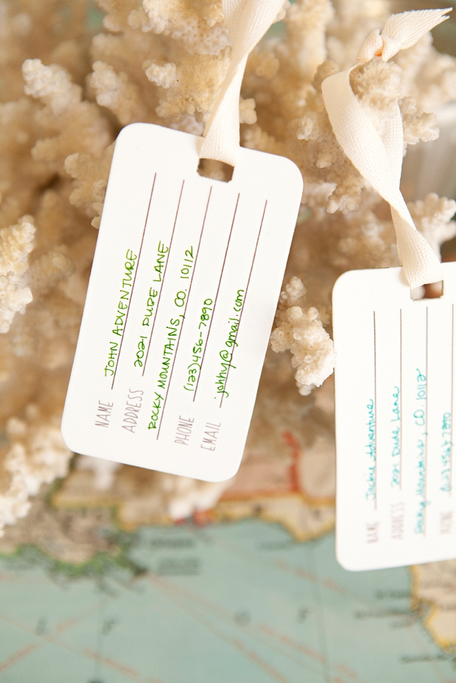 Adorable free printable Mr and Mrs, shrinky dink luggage tags!