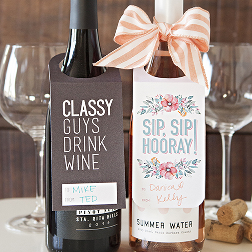 Check Out These FREE, Printable Wine Bottle Gift Tags!