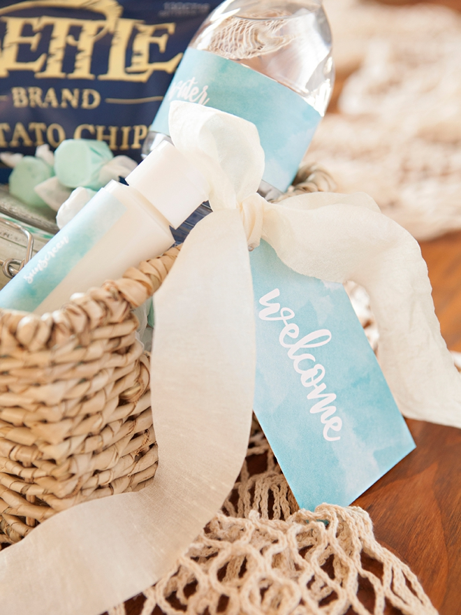 How to make the most darling beach wedding, hotel welcome gifts!