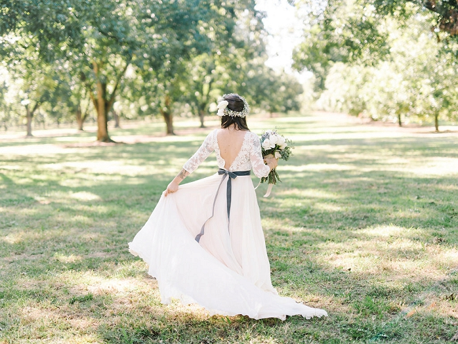We're crushing on this dreamy Bride and her boho wedding day style!