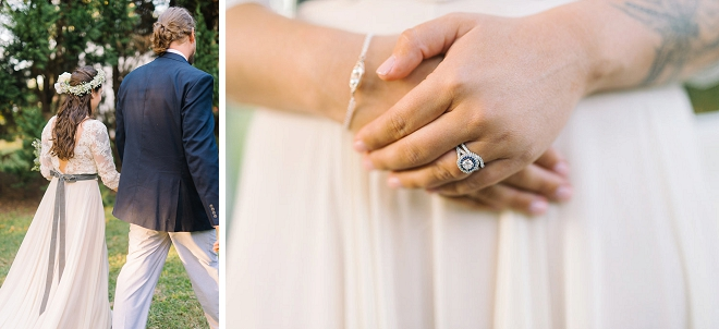 We're swooning over this gorgeous couple and their darling boho chic wedding!