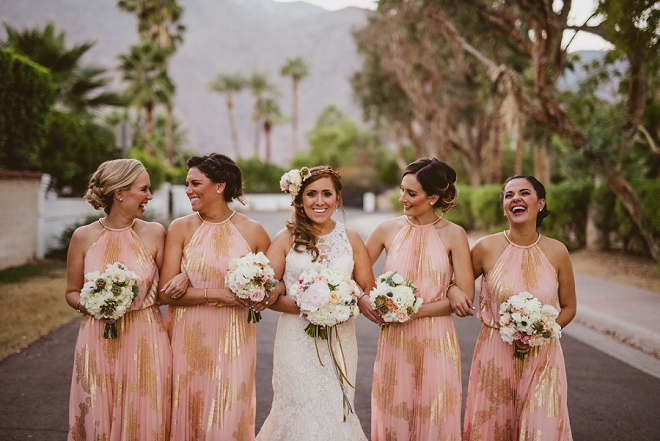 We're in LOVE with these gorgeous Bridesmaids and their beautiful Bride before the ceremony!