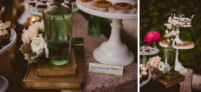 Loving this couple's fun dessert table at their Palm Springs wedding!!