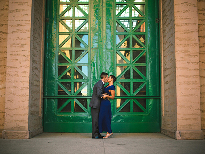 Darling engagement shot captured by Jeanne Mitchum Photography