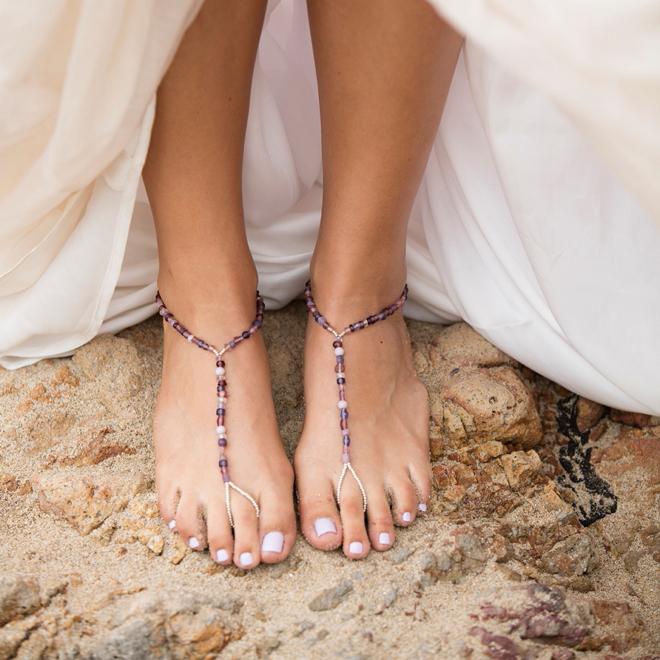 Make Your Own Custom Barefoot Beach Wedding Sandals