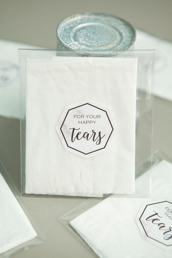 Make Your Own Darling Individual Happy Tears Favors