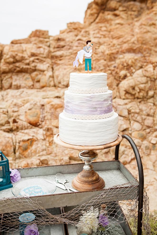 Best wedding cake topper ever for mermaid lovers!!