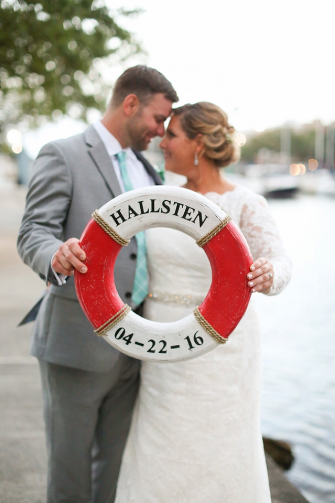 In LOVE with this gorgeous couple and their personalized life saver!