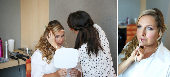 Gorgeous Bride getting ready on her big day!