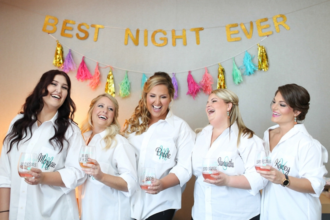 How fun are these photos of the Bride and her Bridesmaids before the big day!