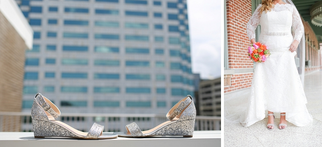 We love this Bride's stunning wedding shoes!