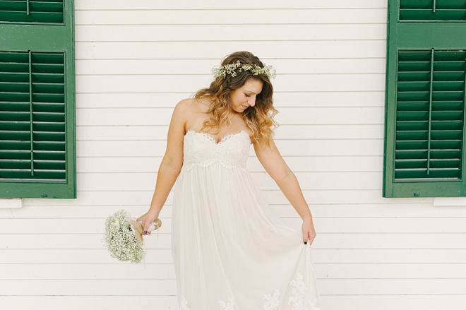 We love this beautiful Bride and her darling wedding day details!