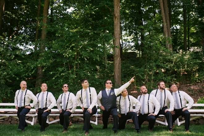 Fun shot of the Groom with his Groomsmen before the ceremony!