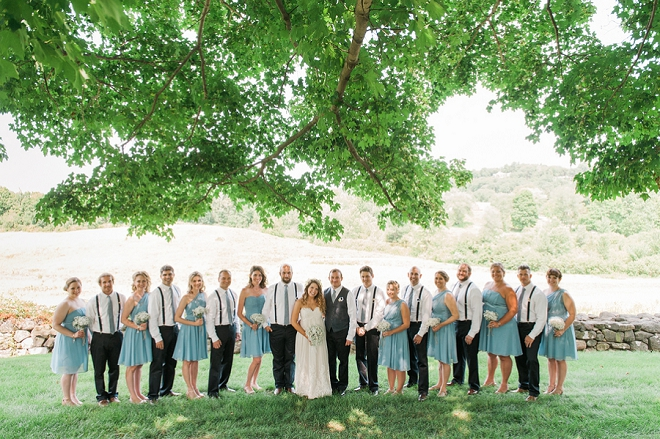 We love this fun couple's fourth of July and their fun bridal party!