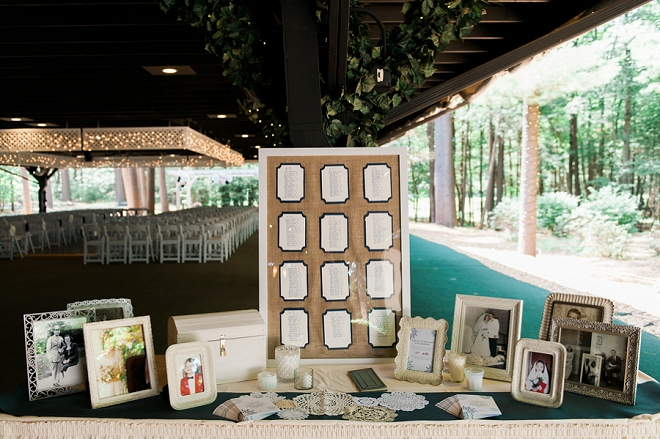 We love this intimate outdoor ceremony at this fun Fourth of July wedding!