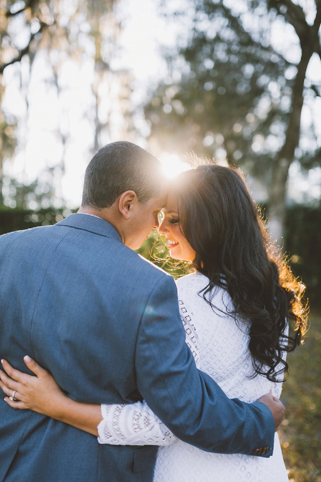 We are swooning over the gorgeous light at this beautiful couple's engagement!