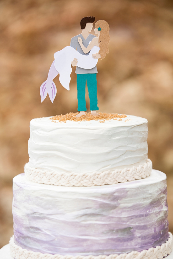 making a wedding cake topper with cricut you to see this diy mermaid wedding cake topper 17053