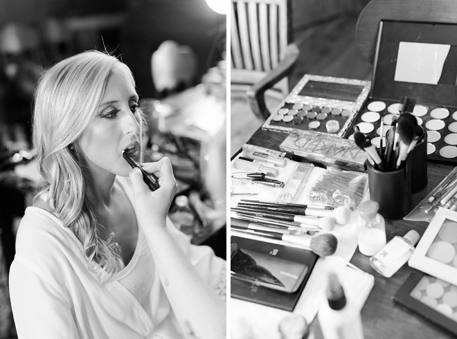 Sweet snap of the Bride getting ready for the big day!
