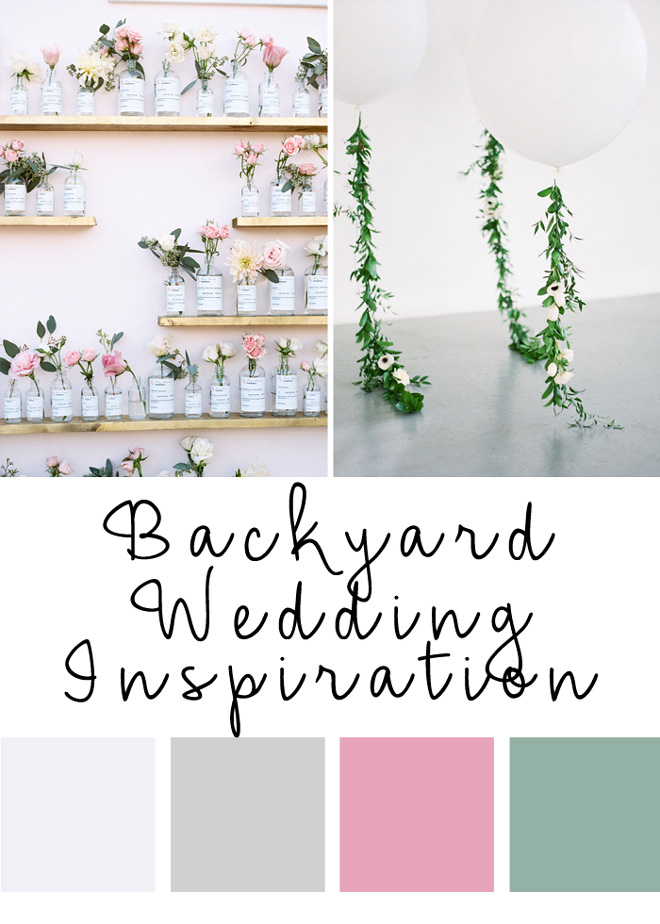 Pretty backyard wedding ideas