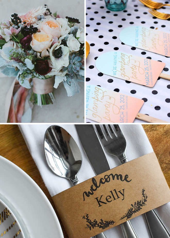 Easy DIY wedding projects to make.